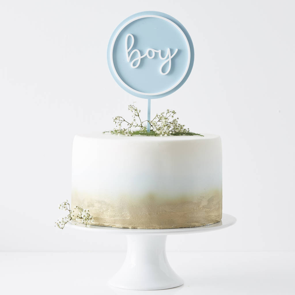Personalised Baby Shower Cake Topper
