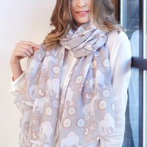 Elephants And Doughnuts Scarf - summer sale
