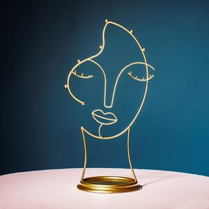 Gold Face Portrait Jewellery Stand