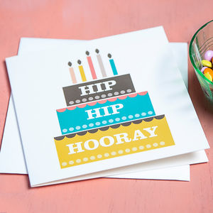 Macaroon Birthday Cake Card