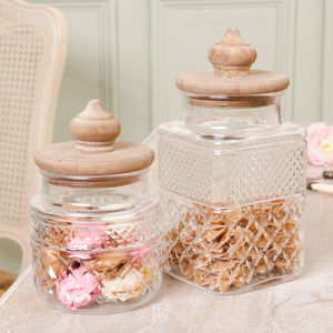 Parisian Glass Kitchen Storage Jars