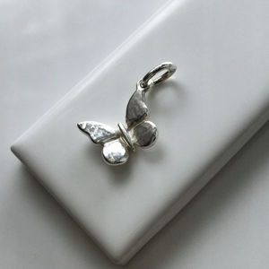 Butterfly Charm In Sterling Silver - charm jewellery