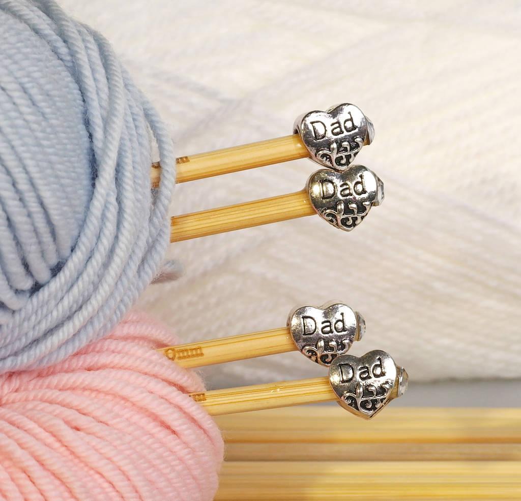 Knitting Gift Set : Dad knitting needles two pair gift set by sproglets kits
