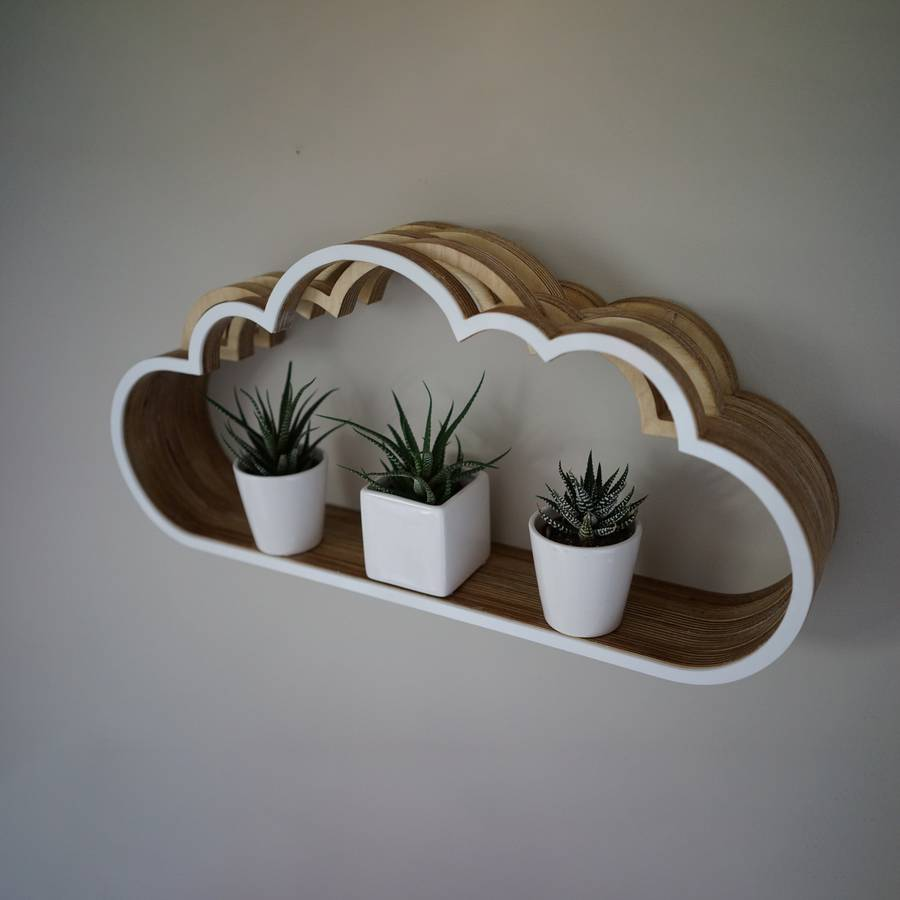 Wooden Cloud Shelf By Youbadcat Notonthehighstreet Com