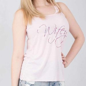 Wifey Flowy Tank Top Perfect For A New Mrs - women's fashion
