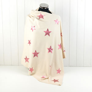 Rose Gold Star Wrap - ponchos & wraps