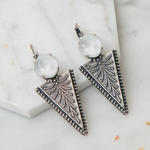 Geometric Arrow Earrings - statement earrings