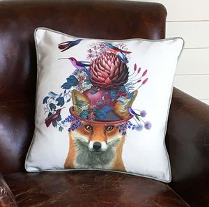 Decorative Cushion Fox And Artichoke - bedroom