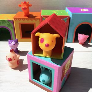 Stacking And Nesting Blocks With Animals - educational toys