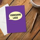 'Yorkshire Lass' Card