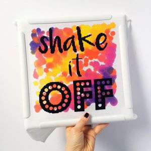'Shake It Off' Modern Cross Stitch Kit