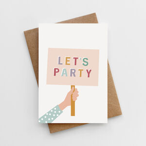 'Let's Party' Children's Birthday Card