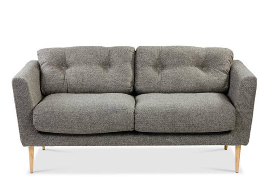 Gray tweed sofa vintage mid century modern chrome tweed for Gray tweed couch