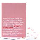 'Giggle At Private Jokes' Wedding Card