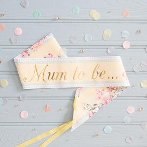 Mum To Be Sash - maternity