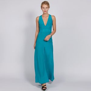 V Neck Crêpe De Chine Silk Gown In Selection Of Colours