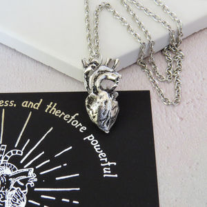 Frankenstein Anatomical Heart Necklace