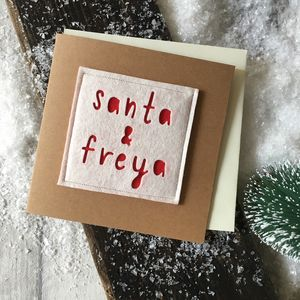 Personalised 'Santa And' Christmas Card - whats new
