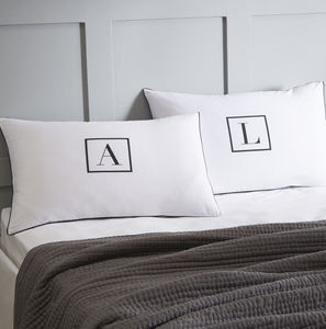 Initial Personalised Pillowcase Set - bed linen