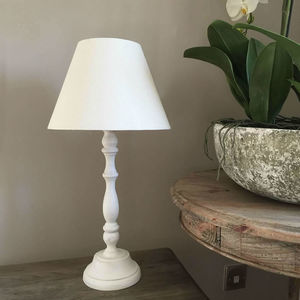 Coastal White Table Lamp And Shade - office & study