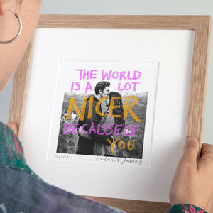 Handprinted Message Photo Print