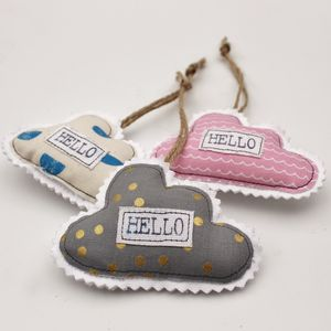 'Hello' Cloud Hanging Decoration