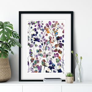 Botanica Abstract Floral Fine Art Giclée Print - modern & abstract