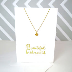 Bridesmaid Card And Necklace Set - bridesmaid gifts