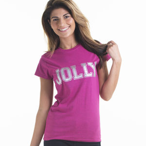 Women's Jolly Slogan Christmas T Shirt - women's fashion