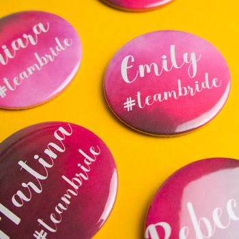 Personalised Pink Hen Party Gift Badges
