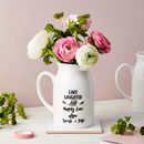 Personalised Wedding Bouquet Small Keepsake Flower Vase