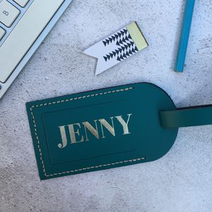 Personalised Classic Luggage Tag