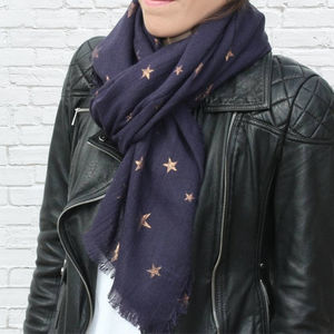 Personalised Warm Woven Oversized Star Scarf