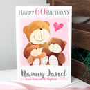 Personalised Mummy Bear Age Birthday Card