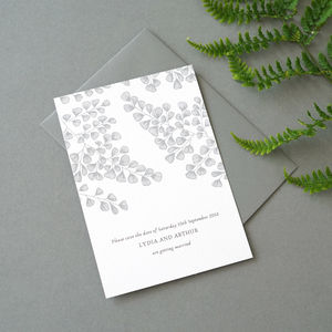 Fern Save The Date - wedding stationery