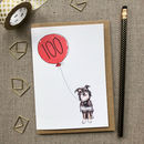 Personalised 100th Birthday Card Dog Design
