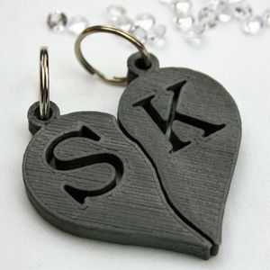 Personalised Couple's Initials Heart Key Rings - winter sale