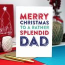 Merry Christmas Dad Greetings Card