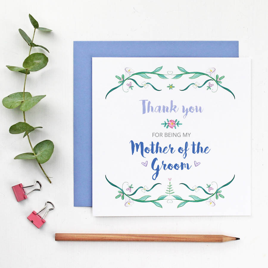 Mother Of The Bride Or Groom Thank You Card