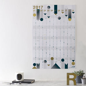 *Now Reduced* 2017 Year Planner : Gold Foil - 2017 & 2018 calendars & planners