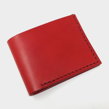 Leather Wallet by Leather & Thread in Red