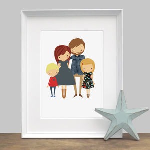 Illustrated Personalised Family Portrait