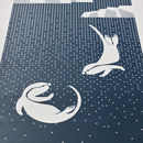 Little Otters Screen Printed Wall Art