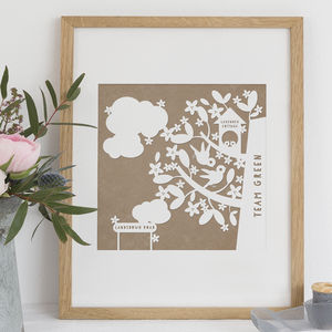 Personalised House Family Tree Print - family & home