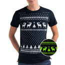 Glow In The Dark Christmas Reindeer Tshirt
