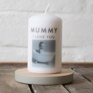 Personalised Mother's Day Photo Message Candle - gifts from younger children