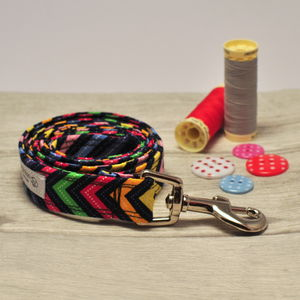 Black And Multi Colour Dog Lead For Girl Or Boy Dogs - dogs