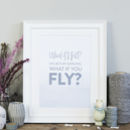 'What If I Fall?' Nursery Print