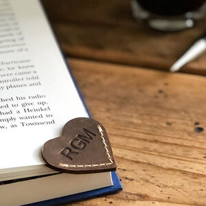 Personalised Initialled Heart Bookmark