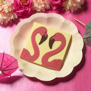 Chocolate Flamingos - wedding favours